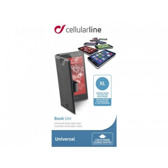 Cellularline Θήκη Book Universal Stand XL Black (BOOKUNI1LK)