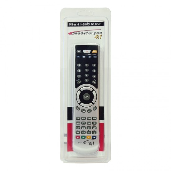 Programmable 4: 1 Madeforyou Remote Control
