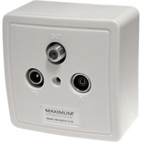 MAXIMUM MX-600 TV / RADIO / SAT socket Terminal
