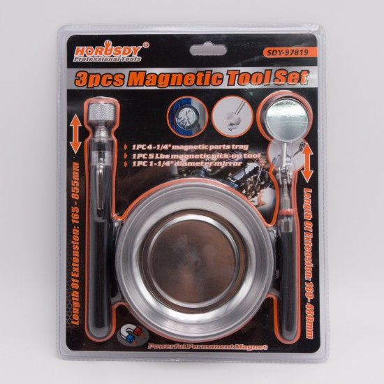Horusdy item collection inspection tool set with Inox saucer SDY-97819