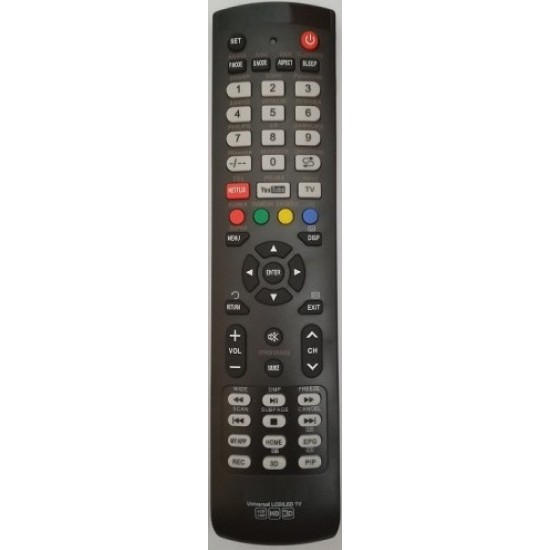 Universal LED / LCD TV remote control