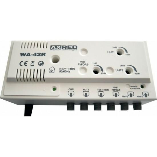 AXRED WA-42R | 42dB central antenna amplifier