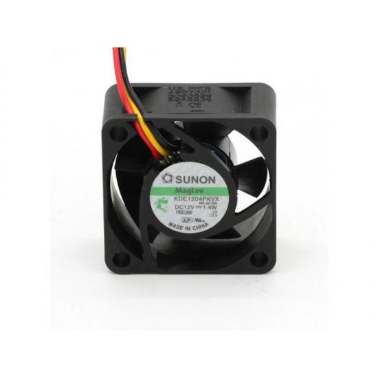 SUNON KDE1204PKV2 DC 12v 0.6w 40x40x20mm 4020 MagLev 3 Wire Silent Cooling Fan