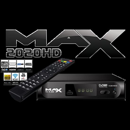 MAX T2 H.265 DVB-T2 HEVC MPEG4 FULL HD TERRESTRIAL